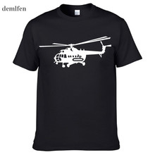 Summer Style Brand New Male T shirts Novelty MI-8 Helicopter