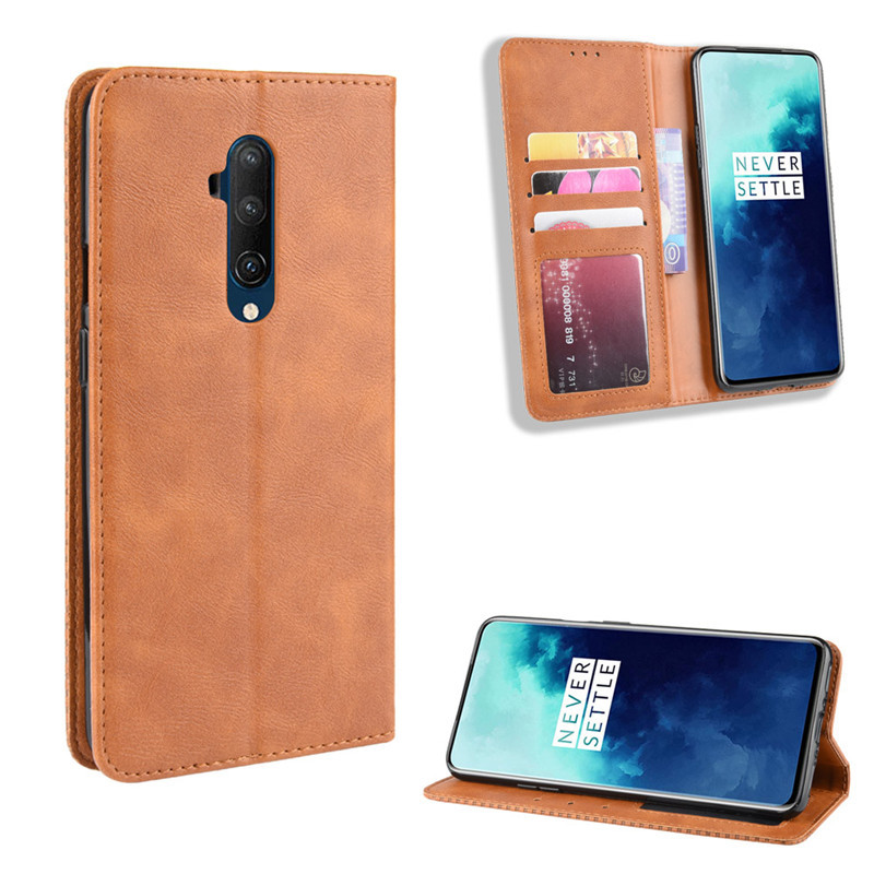 Case for <font><b>Oneplus</b></font> 7T Pro 7 Pro 5t 5 6 6T 3 3T Leather Wallet <font><b>Flip</b></font> <font><b>Cover</b></font> Vintage Magnet Phone Case for One Plus 5t 1+5 A5000 Coque image