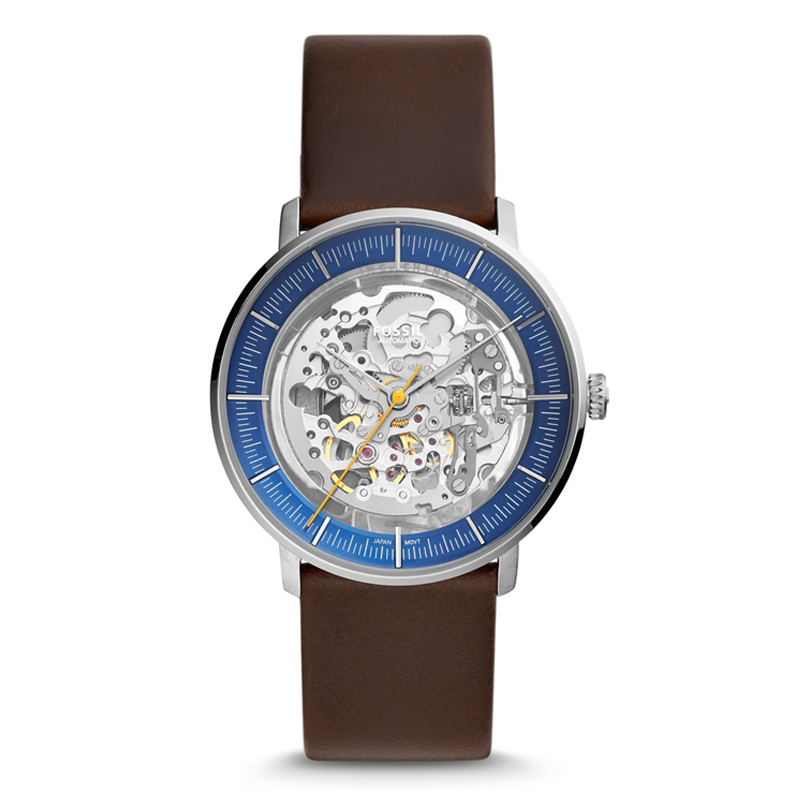 FOSSIL Chase Timer Automatic Watch for Men Luxury Brand Mechanical Watch Men with Brown Leather Strap ME3162P