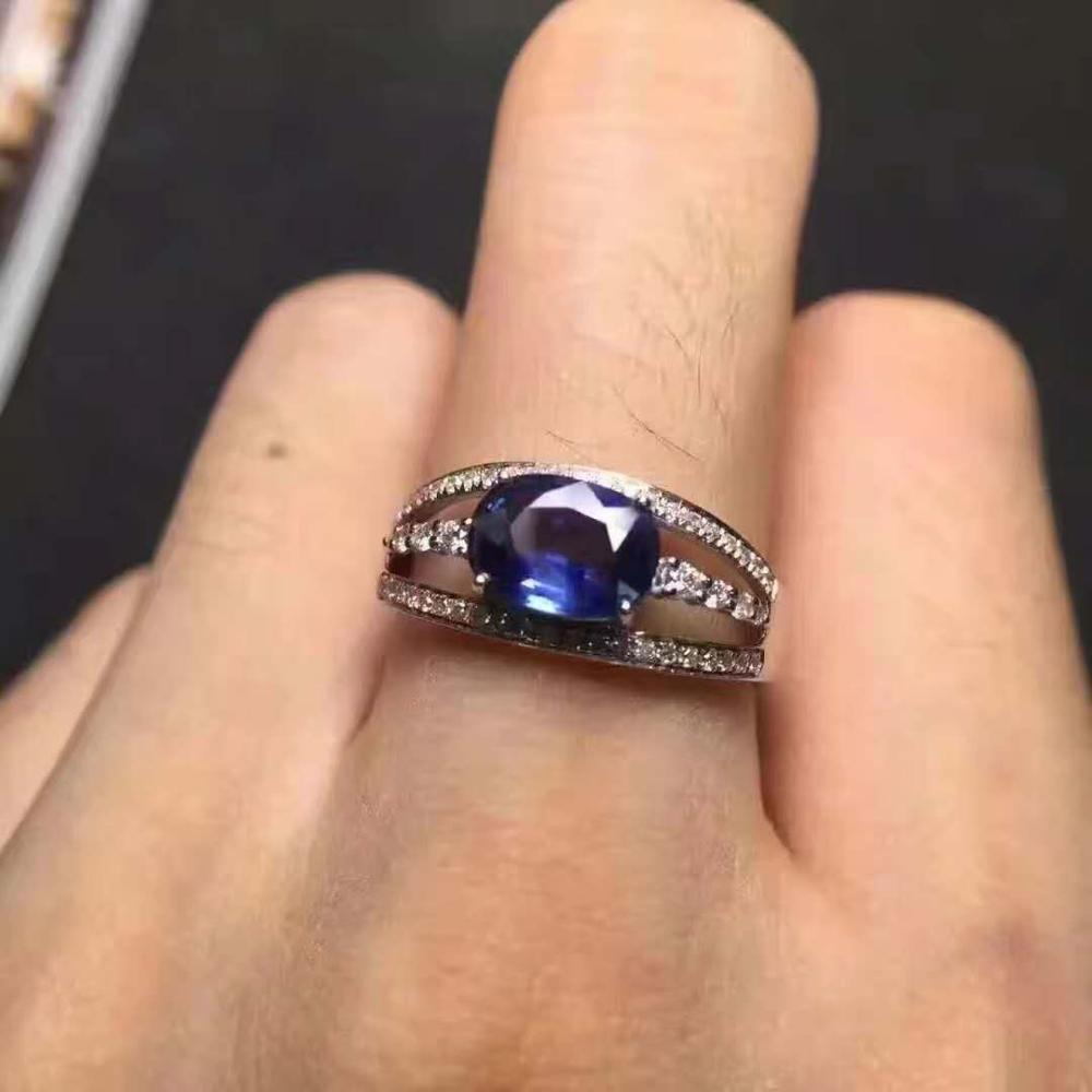 Natural And Real Tanzanite luxury ring ring Free shipping gemstone 925 sterling silver Fine jewelry