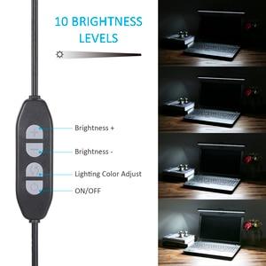 Image 3 - 3 Color USB Powered Computer Monitor Lamp Screen Bar Light Eye caring E Reading LEDs Light 10 Brightness Adjustable