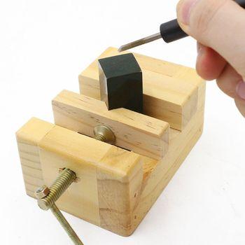 Imadło płaskie z drewna mini zacisk na imadło stołowe płaskie szczypce do obróbki drewna grawerowanie F1FC tanie i dobre opinie BENGU CN (pochodzenie) 4n45799