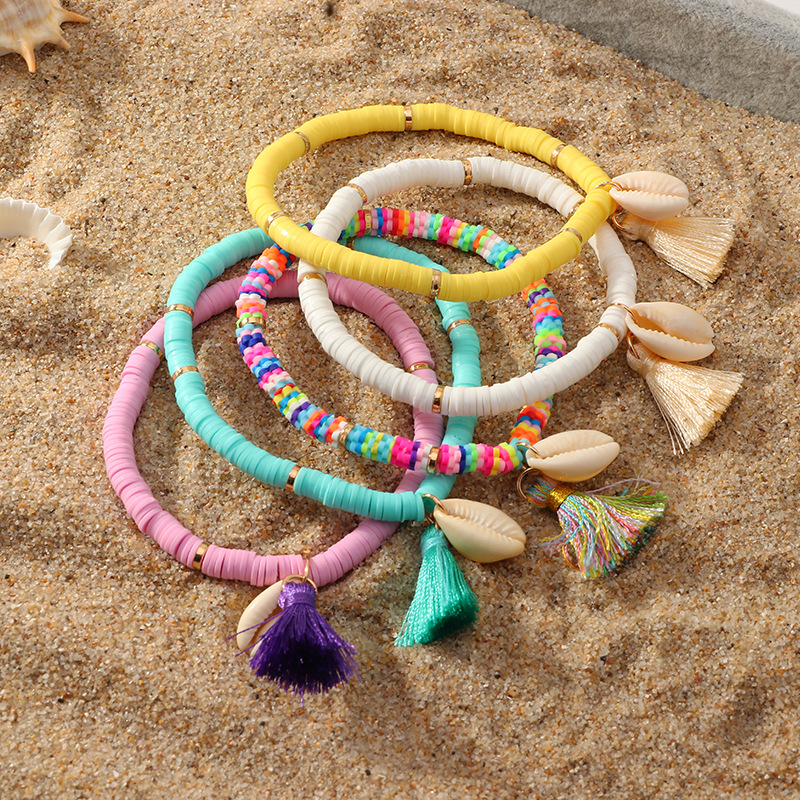 2020 Summer Bohemian Ethnic Sea Shell Bracelet Womens Tassel Sandy Beach Natural Conch Colorful Bracelets Jewelry For Girls