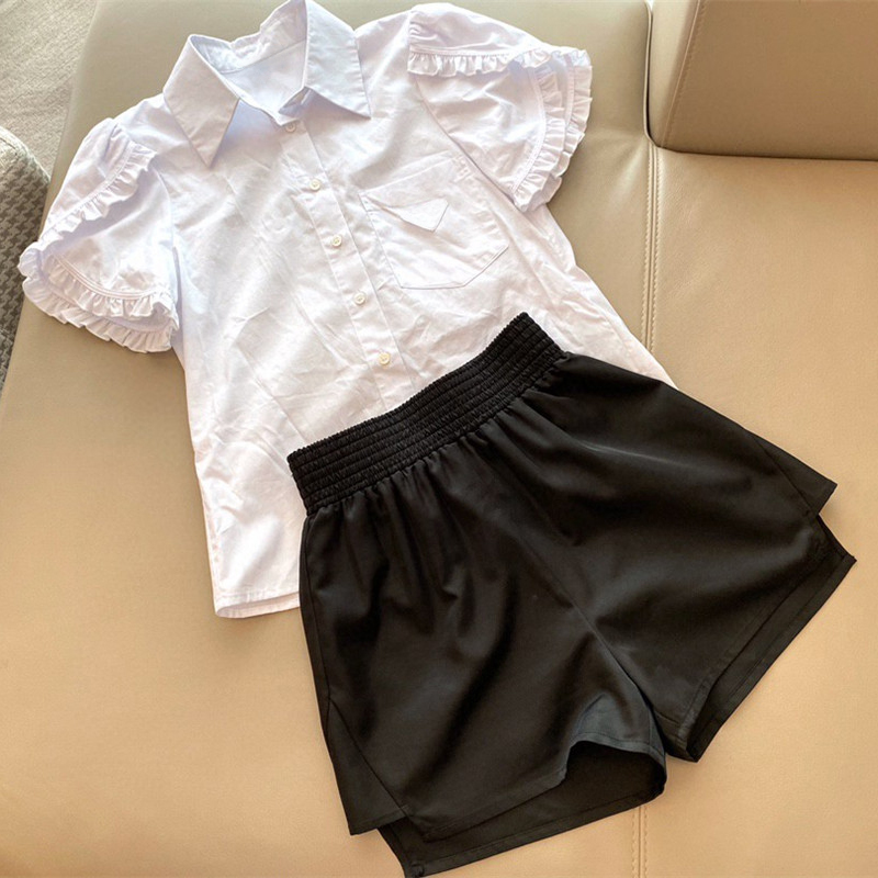 Women Outfit 2020 New Brand Designer Sets Sweet Korean Tops and Shorts Sets Women Clothing Fashion Two Pieces Suits