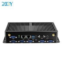XCY fansız endüstriyel Mini PC Intel Core i7 5500U i5 4200U i3 4005U 2xLAN 6xRS232 6xUSB HDMI VGA wiFi 4G LTE Windows Linux