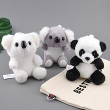 Key-Chains Tiger Plush-Toys Stuffed Animal Christmas Kids Cute Small Koala 12cm 1pcs