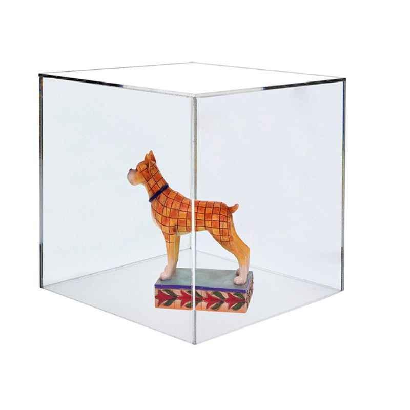 Chất Liệu Acrylic 5 Mặt Trang Sức Trưng Bày Bảo Quản Hộp Vuông Khối Lập Phương Đạo Cụ Hộp