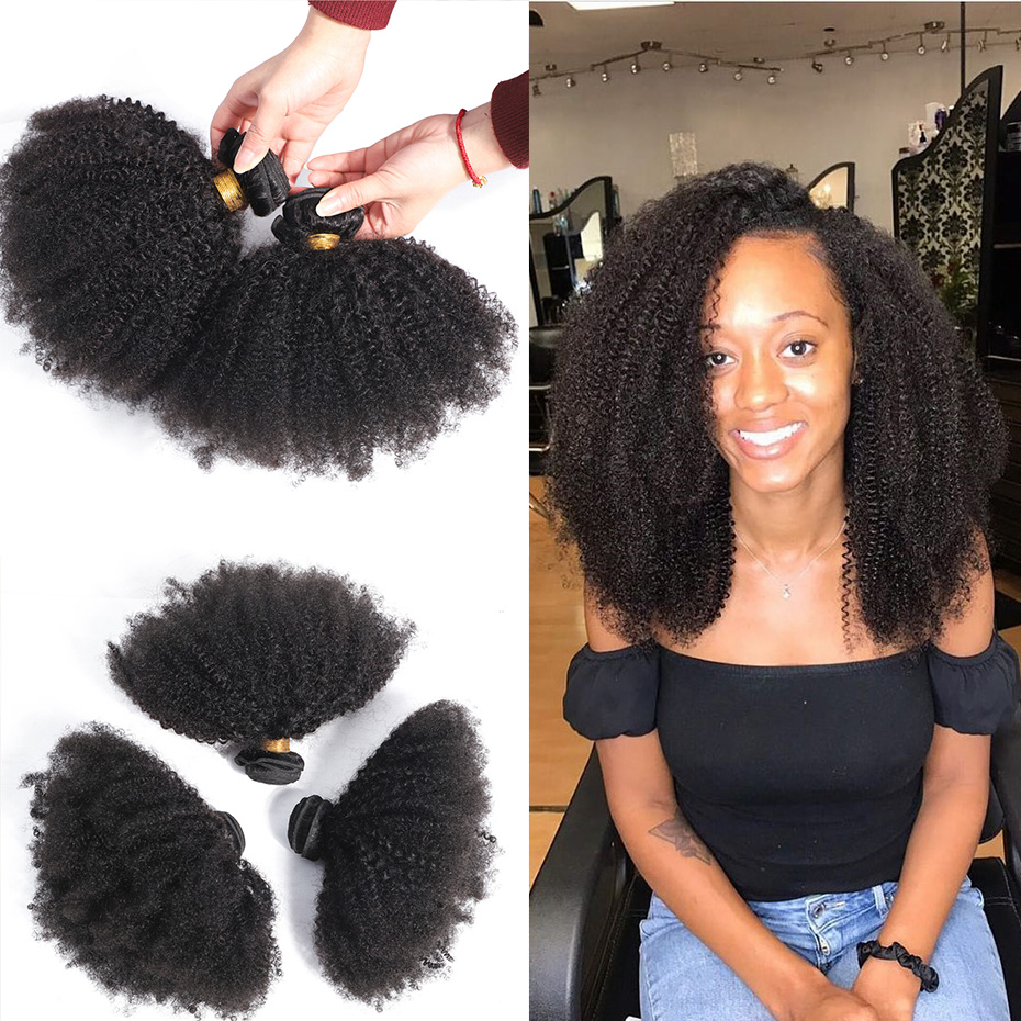Afro Kinky Curly   4B 4C 100% Natural  Bundles Cullinan Hair 1-3pcs Double Weft Deal  Hair  5