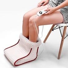 Calentador lavable eléctrico de pie tipo enchufe calefactable 5 modos de ajustes de calor cojín térmico calentador de pies masaje