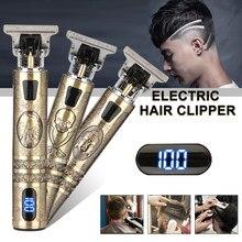 2021 t9 aparador de cabelo elétrico sem fio barbeador aparador de barba barbeador elétrico para homem 0mm barbeiro máquina de corte de cabelo para homem