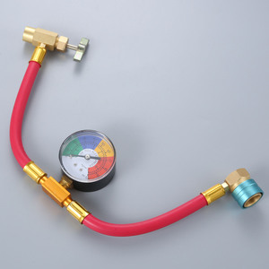 Image 5 - Low Side R1234yf Quick Coupler Refrigerant Recharge Hose Kit Pressure Gauge Can Opener Quick Coupler
