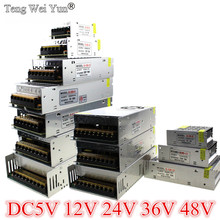 AC-DC 48V 24V 12V 5V импульсный источник питания 3A 5A 10A 20A 30A 40A 80A 360W 36V адаптер питания трансформатор Светодиодный драйвер полоса освещения