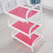 Cart Trolley Beauty with Wheel And Drawer Manicure-Storage Rack Portable-Tool Strong-Bearing