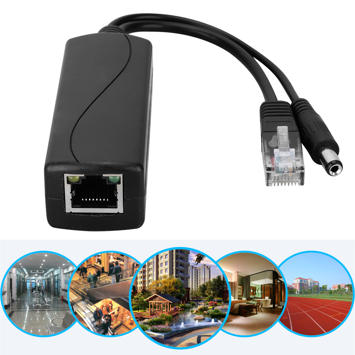 48V To 12V POE Connectors Adapter Cable Splitter Data Transmission Injector Power Supply POE Splitter For Huawei For Hikvision​​