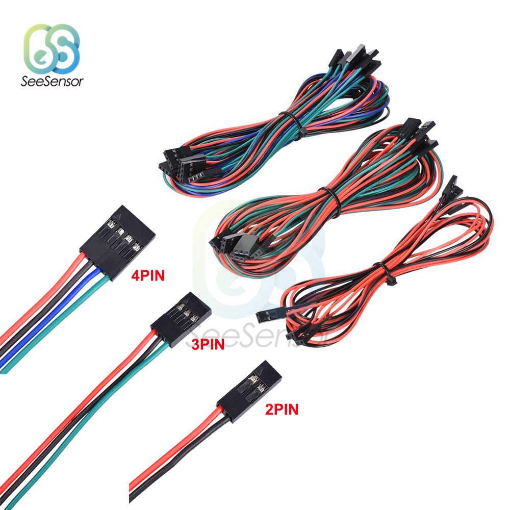 70cm 2PIN 3PIN 4PIN Female to Female Jumper Wire Connector Dupont Cable For 3D Printer