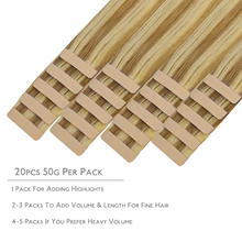 Tape In Human Hair Extensions Straight Natural Seamless Skin Weft 14