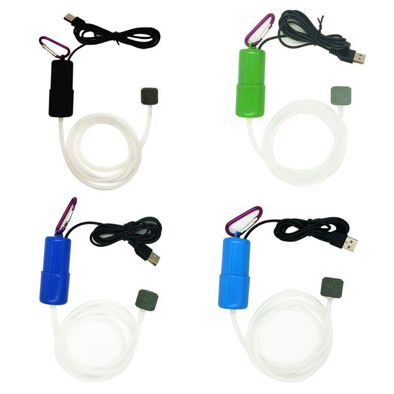 Aquarium Air Pump Portable Mini USB Aquarium Fish Tank Oxygen Air Pump Mute Energy Save Compressor