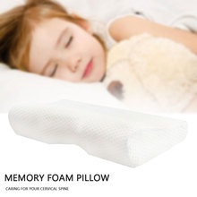 Memory Foam Bedding Pillow Slow Rebound Neck Protection Memory Foam Butterfly Shaped Pillow Health Cervical Neck Comfortable Hot contour memory foam bed orthopedic pillow for neck pain sleeping protect cervical pillow slow rebound health pillow home bedding