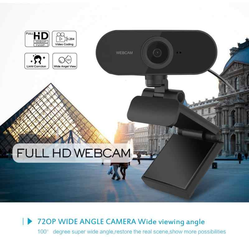 USB2.0 Web Camera 1080P HD Auto Focus Computer Camera Webcams Built-In Sound-absorbing Microphone 1920 *1080 Dynamic Resolution