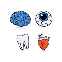 Medical Enamel Pins ! Internal Medicine Doctor Mold Badge Brain Systerm Heart Teeth Eye Brooches Medical Enthusiasts Nurse Gifts