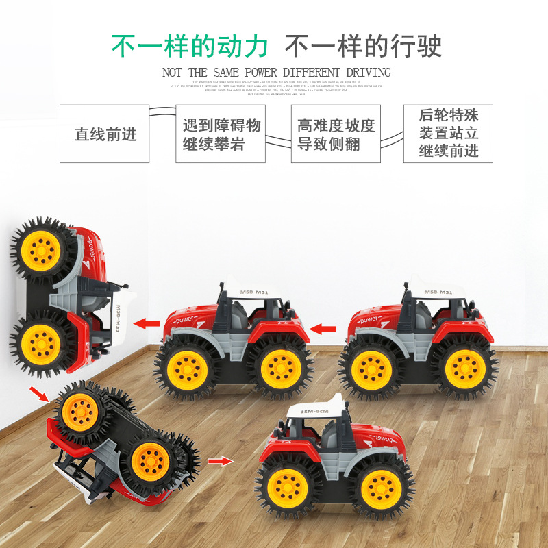 [Rush Specifically For] Children Flipping Toy Car Electric Stunt Car Cartoon Educational Dump Truck Micro Heating-