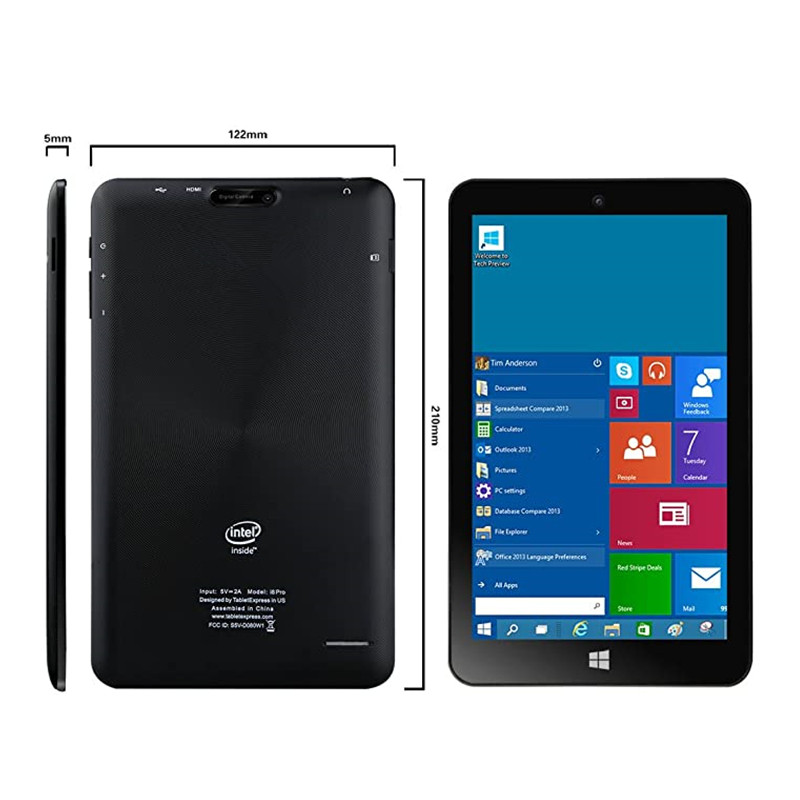 8 polegada i8 pro windows tablet pc 1280x800 ips windows 8.1 + android 4.4.4 kitkat (sistema duplo) 1gb + 32gb z3735g quad core 32 bits os