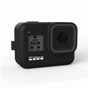 Image 4 - Probty for gopro hero 8 블랙 액세서리 케이스 gopro hero 8 black hero 카메라 용 보호 실리콘 케이스 스킨