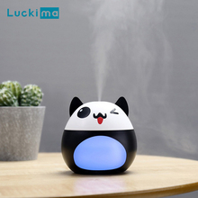 Cartoon Mini Ultrasonic Air Humidifier LED Night Light Aroma Essential Oil Diffuser for Home Car Office USB Fogger Mist Maker mini cup air humidifier ultrasonic cool mist aroma diffuser with color led light for office car umidificador mist maker fogger