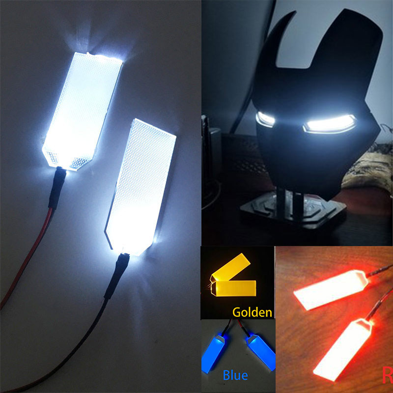 Halloween Masks DIY LED Light Eyes Kits For Tony Stark Helmet Cosplay Glow Eyes Modified Mask Accessories CR2032