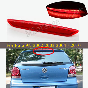 High-Mount Stop Brake light For Volkswagen For VW Polo 9N 2002 2003 2004 2005 2006 2007 2008 2009 2010 Third Brake Tail Lights car high positioned mount additional third brake light for honda civic 2006 2007 2008 2009 2010 2011 for honda accord 8th stop