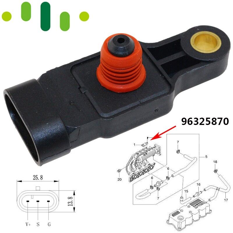 Manifold Absolute Druck KARTE Sensor Für Chevrolet Aveo Kalos Matiz Funken NUBIRA LACETTI Daewoo TICO 0,8 1,0 1,2 1,4 96325870