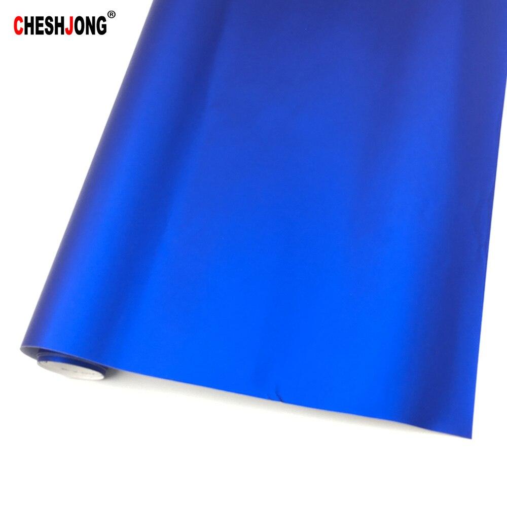 Car Styling 152cmx3/10/20m Blue Chrome Metallic Vinyl Wrap Film Ice Sticker Auto Film Sheet For Car Truck Motocycle Laptop