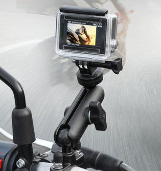 Motorcycle Riding Camera Holder Rearview Mirror Adjustable Metal Fixed Bracket Stand For GoPro Hero 8/7/6 Action Cameras