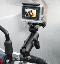 Motorrad Reiten Kamera Halter Rückspiegel Einstellbare Metall Fest Halterung Stehen Für GoPro Hero 8/7/6 Action kameras