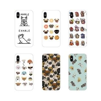 Para Samsung Galaxy J1 J2 J3 J4 J5 J6 J7 J8 Plus 2018 primer 2015 de 2016 de 2017 Animal lindo Pug accesorios para perros fundas para teléfono