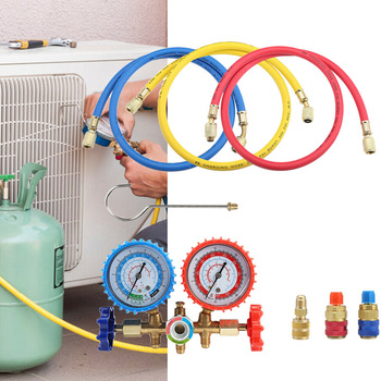 Copper Valve Double Gauge Valve Suitable for Automotive Air Conditioning Household Air Conditioning Add Refrigerant TN99