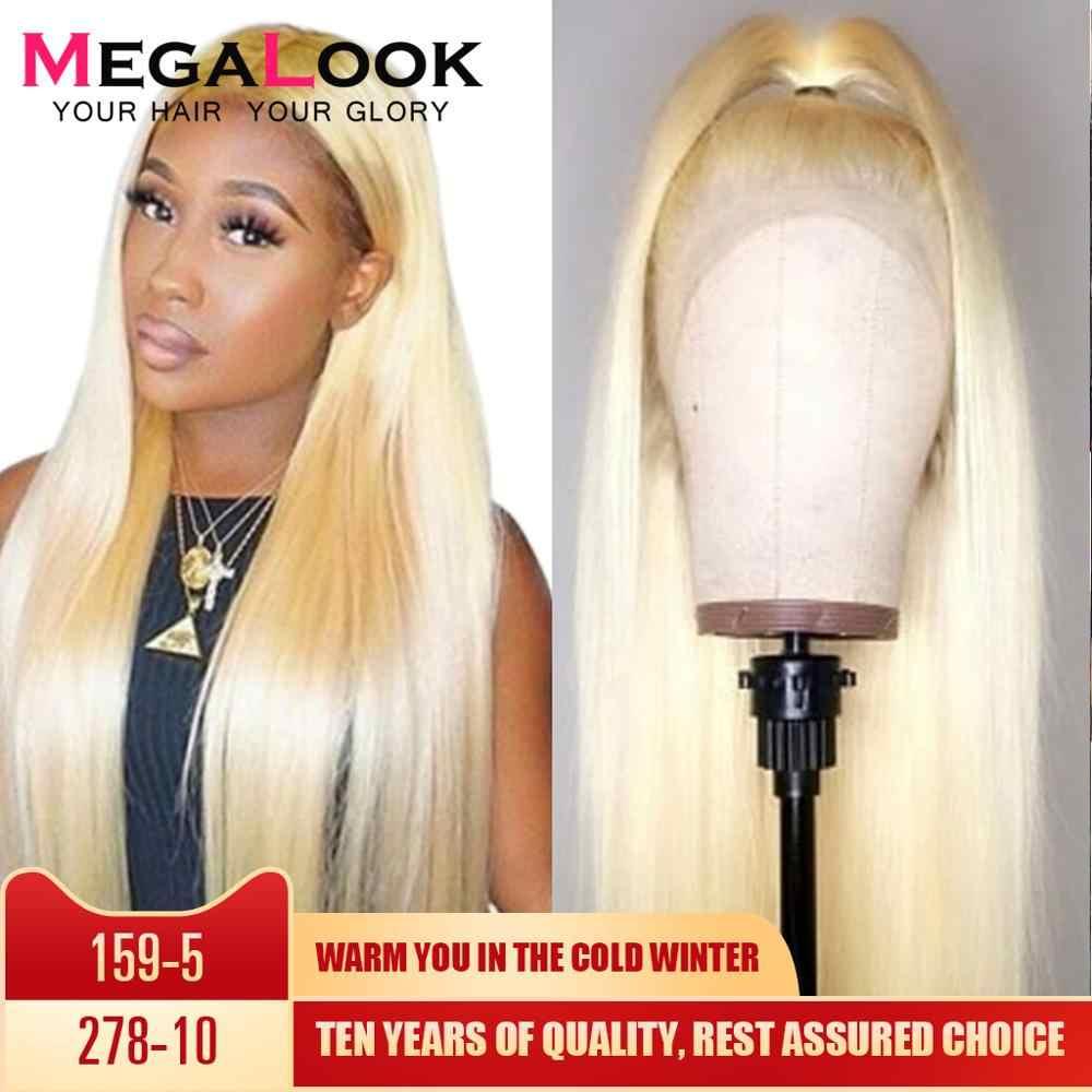 #613 медовый блондин парик на кружеве прямые человеческие волосы парик предварительно выщипанные с волосами младенца 10-30 дюймов 613 парик remy Волосы 180