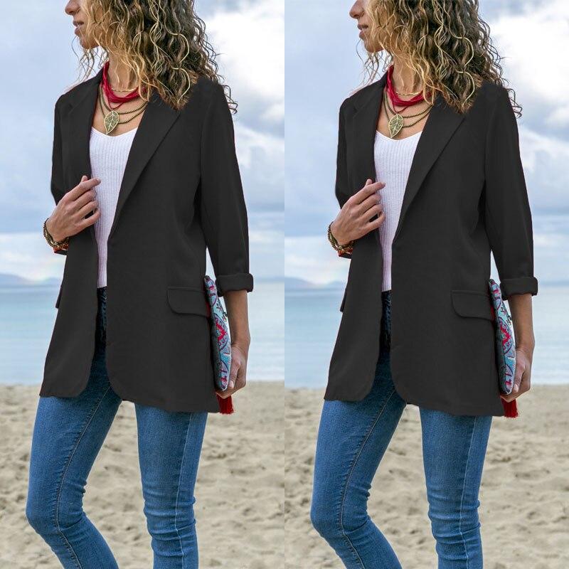 2019 New Sytyle Fashion Women Suit Coat Business Blazer Long Sleeve Jacket Outerwear Women Blazers