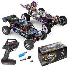 Wltoys 124018/124019 rtr 1/12 2.4g 4wd 60km/h chassi de metal rc carro fora de estrada escalada caminhão veículos modelos crianças brinquedos