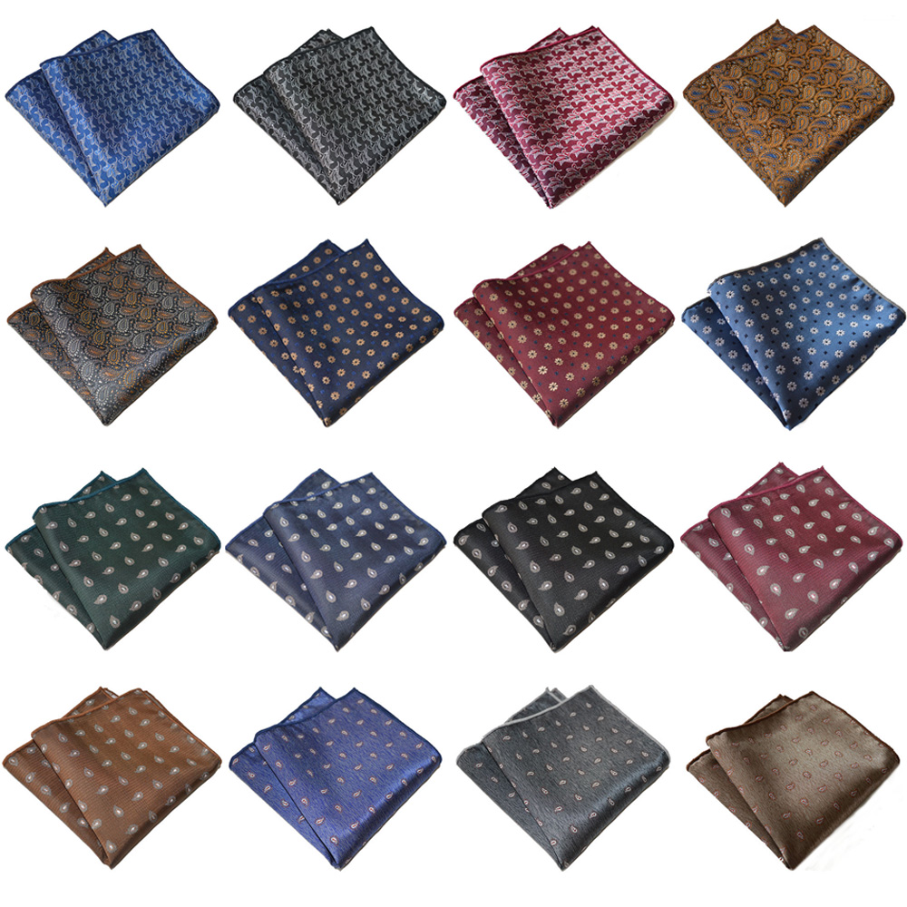 Men's Paisley Printed Suit Pocket Square Accessories Wedding Party Handkerchief BWTYX0304