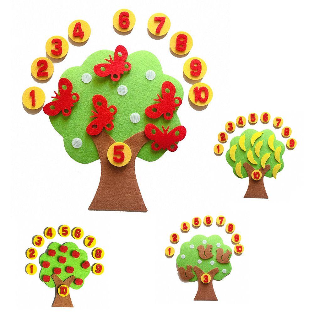 Материалы монтессори обучающая игрушка тканевая яблоко математическая игрушка для детей ранняя математика арифметика ручное учебное посо...