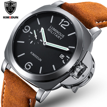 Luxury Top Brand Sport Watch Men Waterproof Quartz Brown Leather Military Wrist Watch Men Army Clock Male relojes hombre hodinky