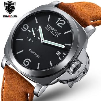 цена на Luxury Top Brand Sport Watch Men Waterproof Quartz Brown Leather Military Wrist Watch Men Army Clock Male relojes hombre hodinky