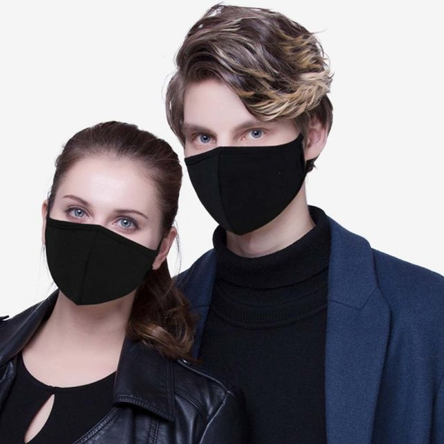 Unisex Mask Adjustable Anti Dust Face Mouth Mask Black Cotton Face Mask For Cycling Camping Travel Drop Shipping