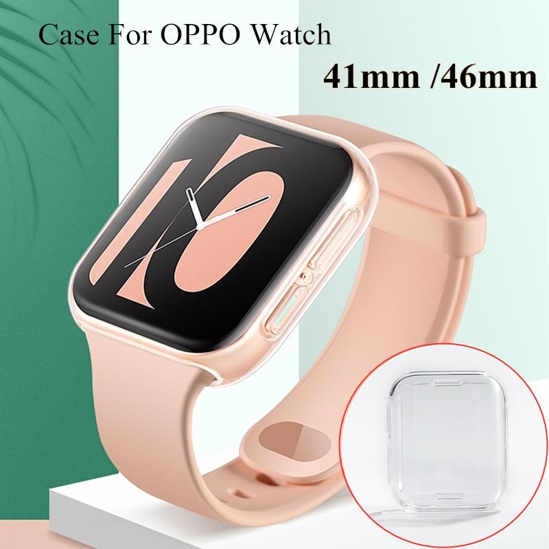 Чехол для часов OPPO, 41 мм, 46 мм, Мягкий защитный чехол из ТПУ для экрана, прозрачный чехол для часов, полная защита для часов OPPO, 41 мм, 46 мм