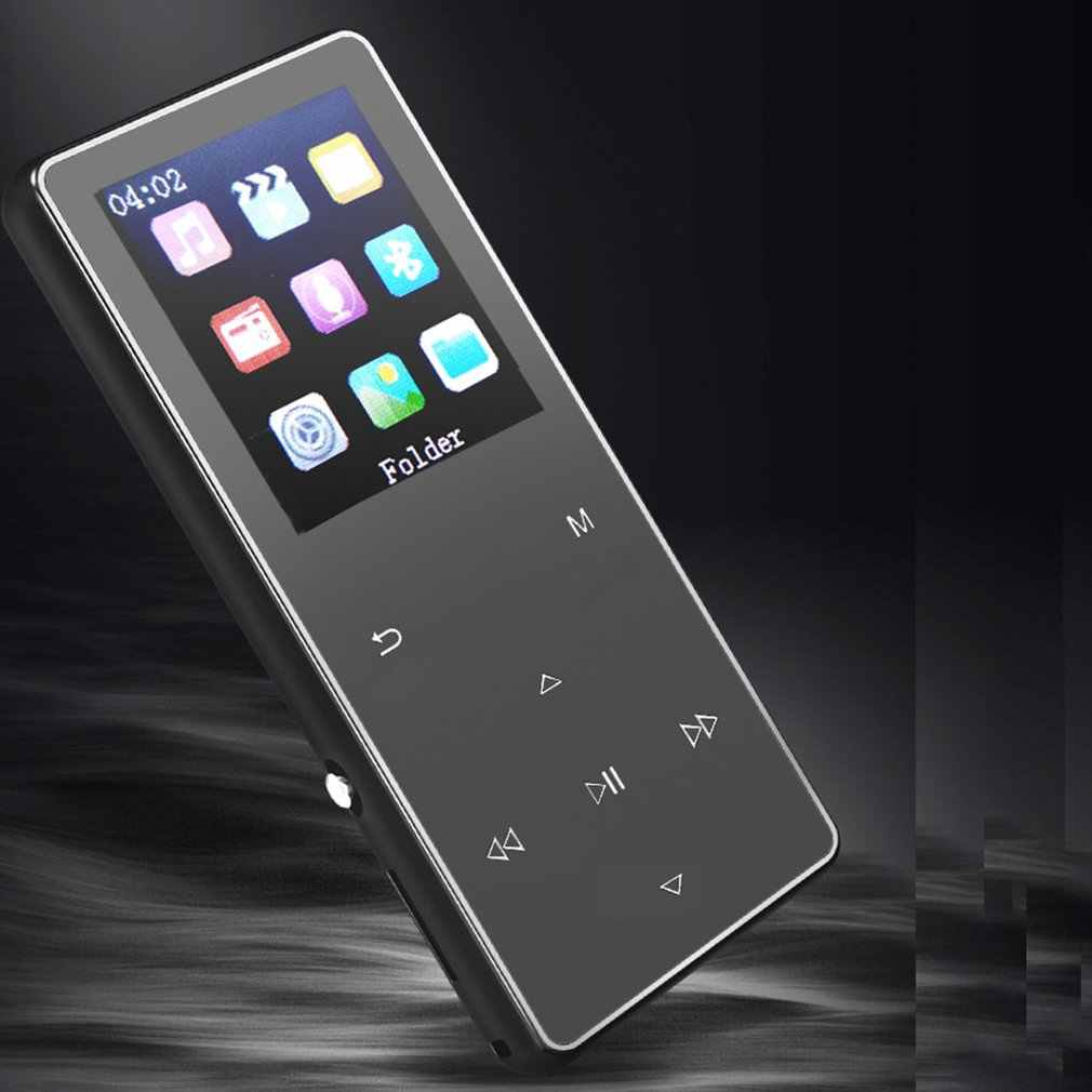 Luxury Metal MP4 Player Bluetooth Player Portable Slim MP3 MP4 Media 1.8 inch 8GB/16GB Music Player Gift FM Hi-Fi Walkman