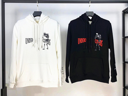 2020 Top Quality 1:1 Undercover Cooperation Skull Printed Women Men Hoodies Sweatshirts Hiphop Streetwear Men Casual Hoodie