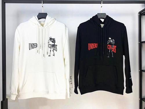 2020 Top Quality 1:1 Undercover Cooperation Skull Printed Women Men Hoodies Sweatshirts Hiphop Streetwear Men Casual Hoodie