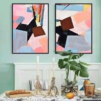 100% pintado a mano pintura al óleo abstracta moderna sobre lienzo regalo de pintura al óleo decoración para el hogar Decoración de la pared de la sala de estar imagen de adorno FreeShip