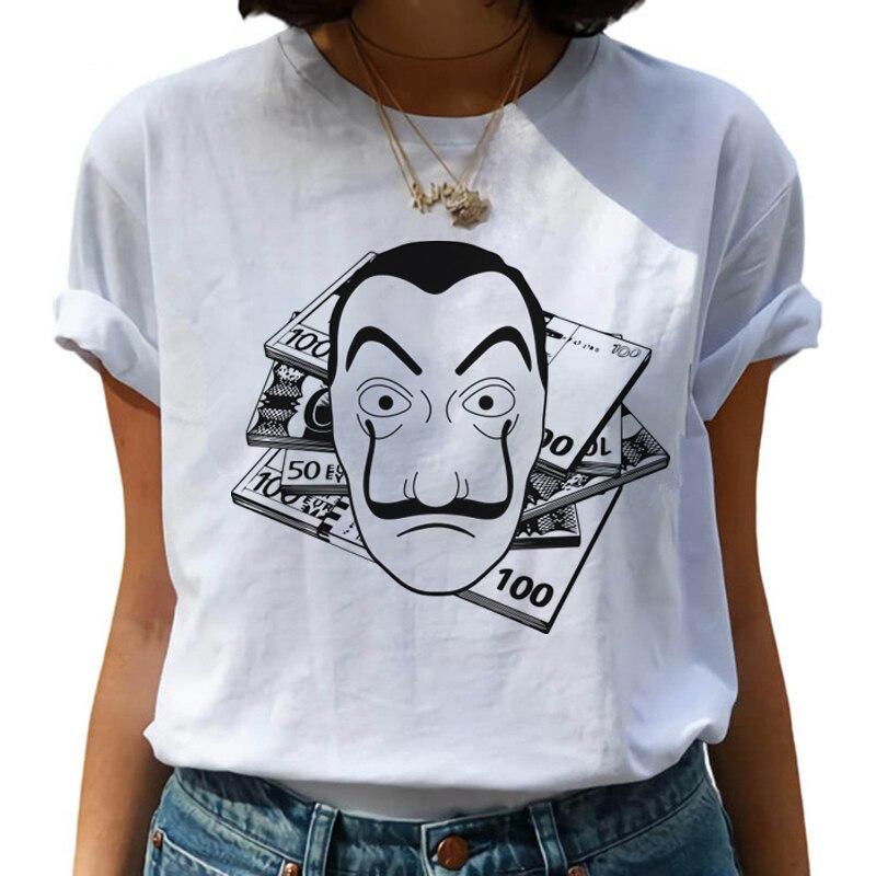 New Money Heist Harajuku T Shirts Women La Casa De Papel Hip Hop T-shirts Fashion House of Paper Tshirt Fashion Top Tees Female 3